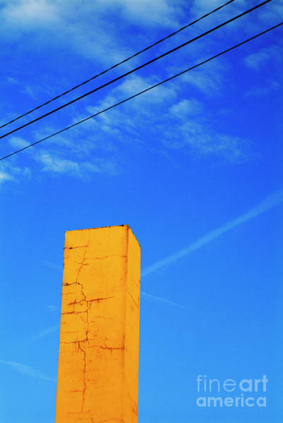 Wall Art - Photograph - Chimney Painted Yellow by Sami Sarkis