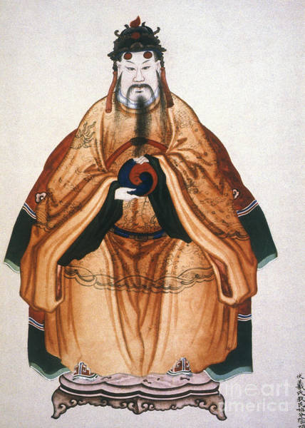 Photograph - China: Emperor Fu Hsi by Granger