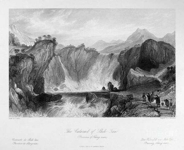 Photograph - China: Waterfall, 1843 by Granger