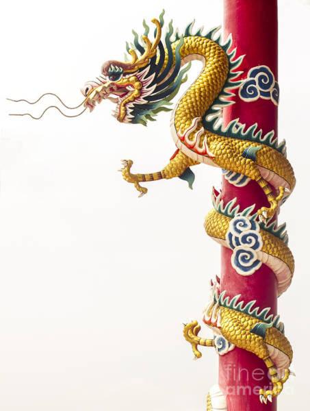 Chinese New Year Photograph - Chinese Dragon by Anek Suwannaphoom