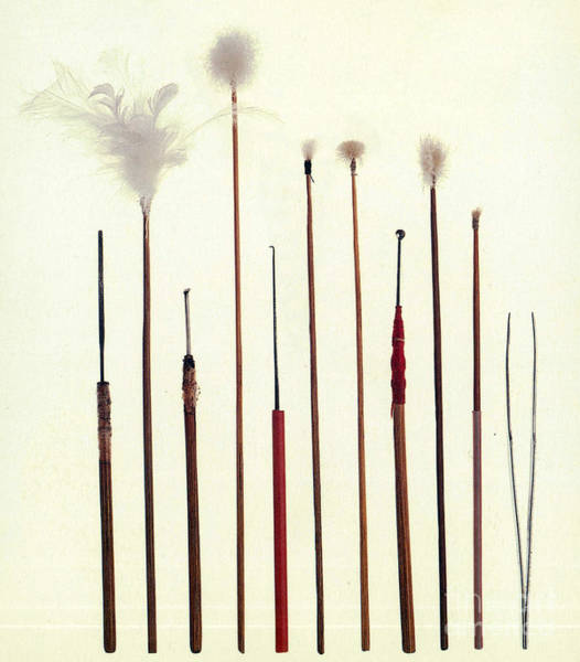 Photograph - Chinese Ear Cleaning Tools by Science Source
