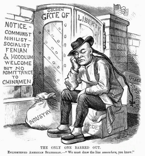 Wall Art - Photograph - Chinese Exclusion Act, 1882 by Granger