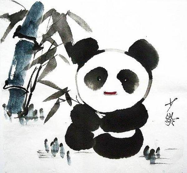 Interaction Painting - Chinese Ink by SL Cheung