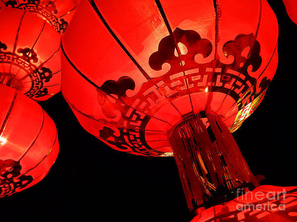 Photograph - Chinese Lanterns 4 by Xueling Zou