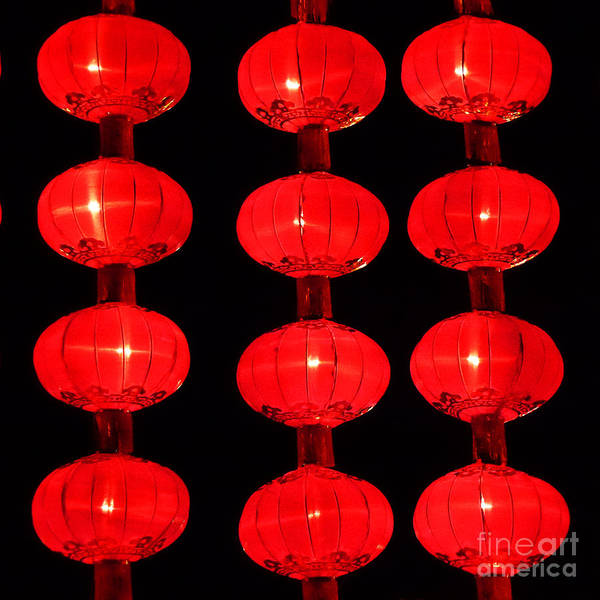 Photograph - Chinese Lanterns 5 by Xueling Zou