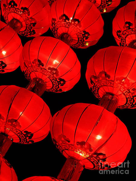 Photograph - Chinese Lanterns 6  by Xueling Zou