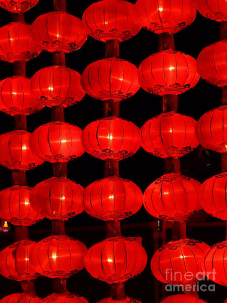Photograph - Chinese Lanterns 7 by Xueling Zou