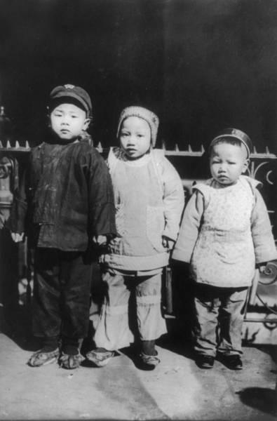 Chinese New Year Photograph - Chinese New Year, Three Children Posed by Everett