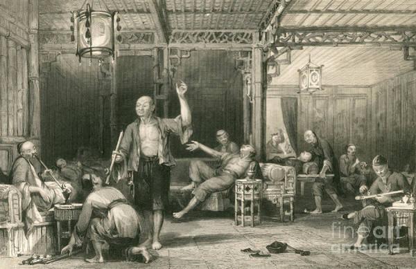 Chinese Opium Smokers Art Print