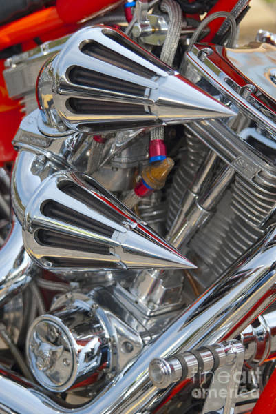 Photograph - Chopper Engine-2 by Paul W Faust -  Impressions of Light
