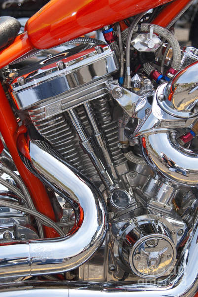 Photograph - Chopper Engine by Paul W Faust -  Impressions of Light