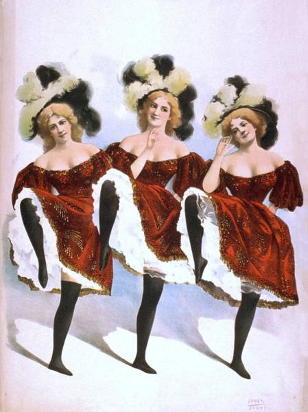 Burlesque Dancer Photograph - Chorus Girls Emerged As An Important by Everett