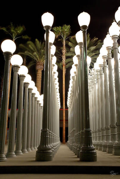 Photograph - Chris Burden's Lights One by Endre Balogh
