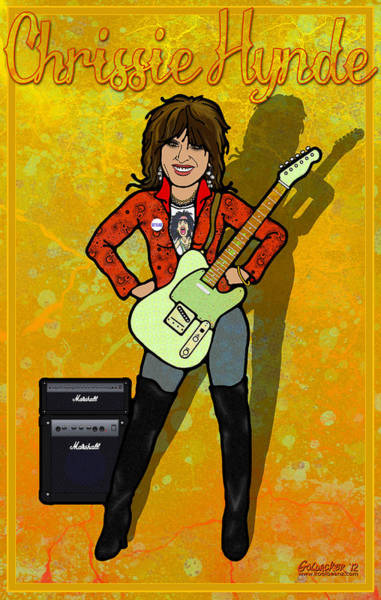 Glam Rock Digital Art - Chrissy Hynde by John Goldacker