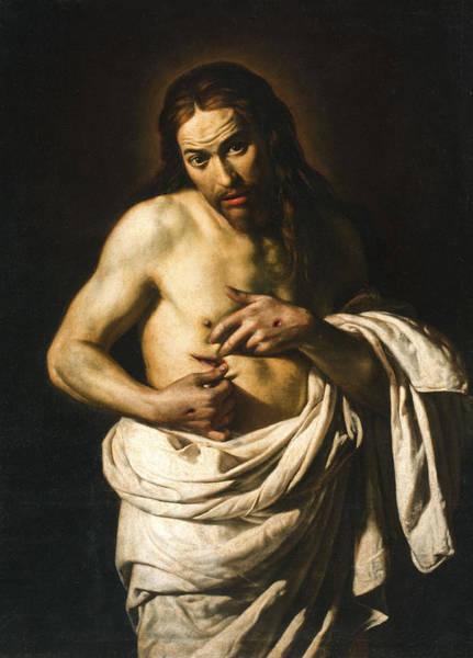 Sacred Heart Wall Art - Painting - Christ Displaying His Wounds by Giacomo Galli