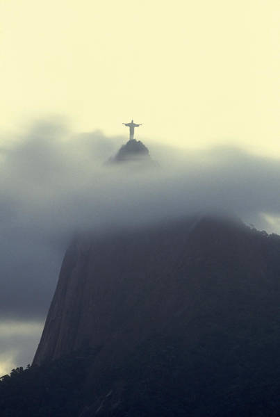 Redeemer Wall Art - Photograph - Christ The Redeemer Statue At The Peak by Michael Melford