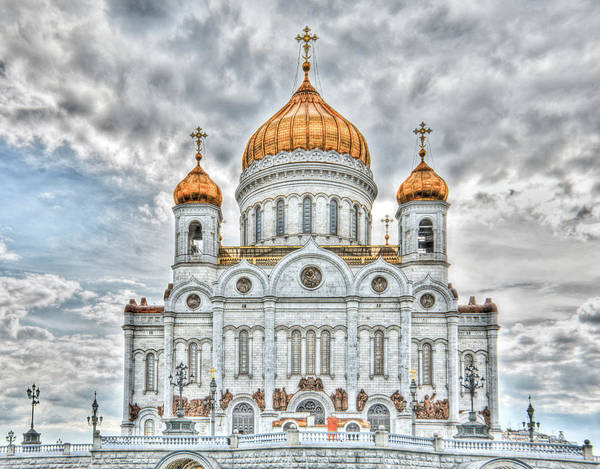 Photograph - Christ The Saviour Cathedral In Moscow. The Main Entrance by Michael Goyberg