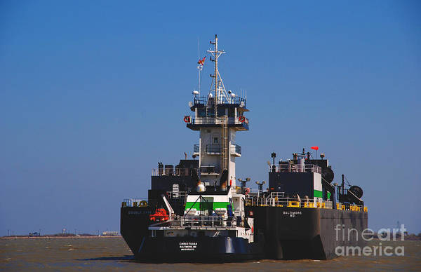 Photograph - Christiana Oil Tanker Sitting In Galveston Tx by Susanne Van Hulst