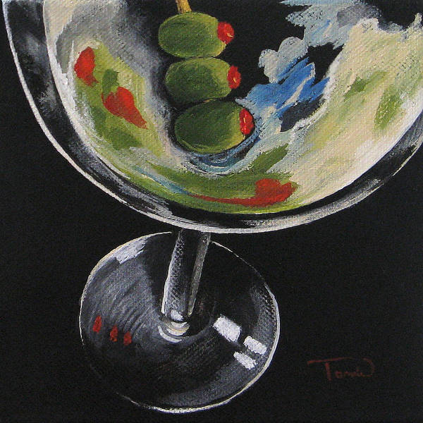 Wall Art - Painting - Christian's Martini by Torrie Smiley