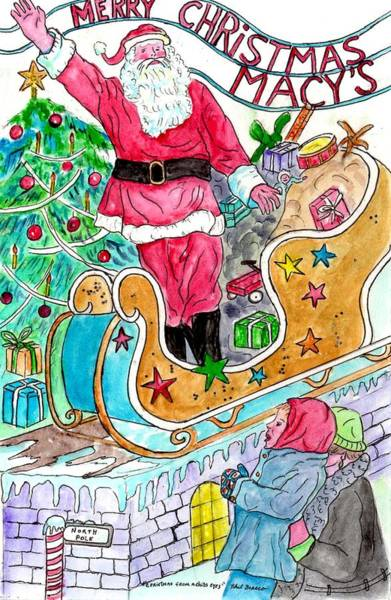 Painting - Christmas At Macy's by Philip Bracco