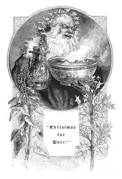 Photograph - Christmas Card, 1879 by Granger