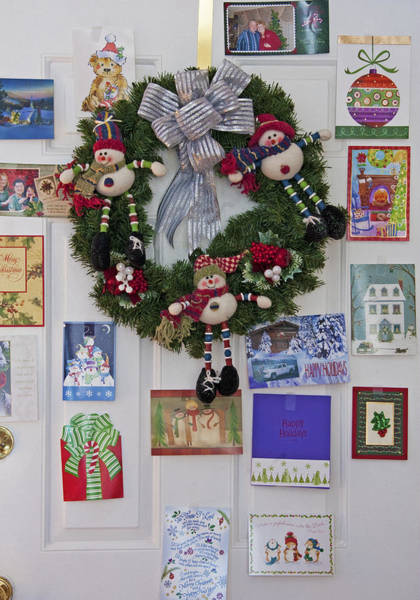Christmas Season Wall Art - Photograph - Christmas Door - Interior by Steve Ohlsen