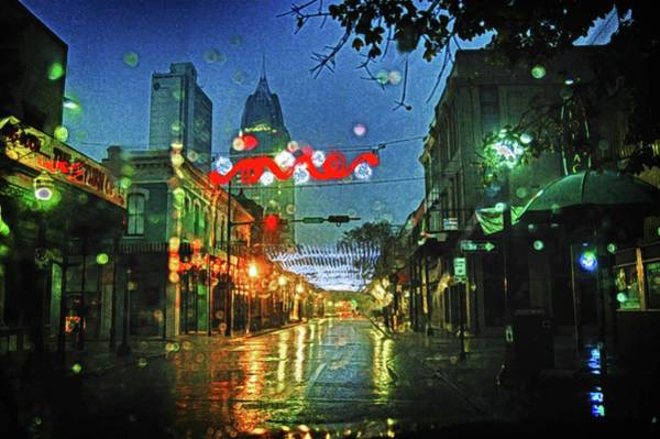 Digital Art - Lights At 3 Georges In Mobile Al by Michael Thomas