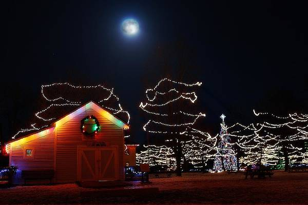 Photograph - Christmas Moon by Scott Hovind