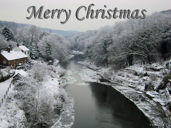 Photograph - Christmas Snow Scene by Sarah Broadmeadow-Thomas