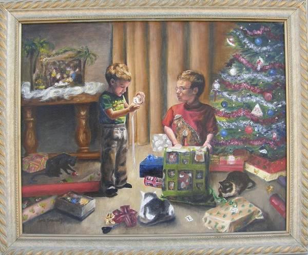 Painting - Christmas Time Framed by Lori Brackett