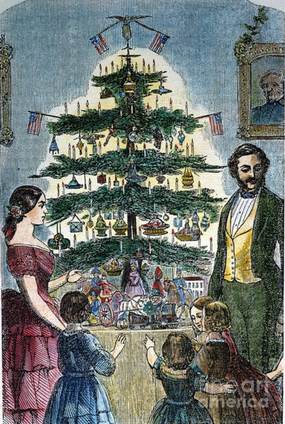 Photograph - Christmas Tree, 1864 by Granger