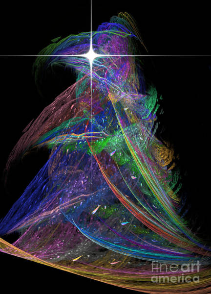 Digital Art - Christmas Tree 49b Star by Russell Kightley