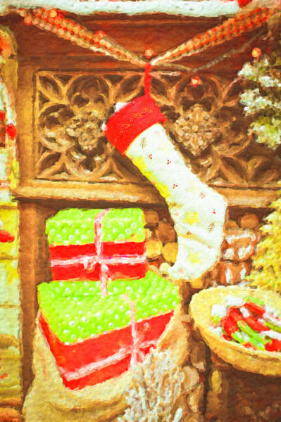 Arty Photograph - Chritmas Stocking by Tom Gowanlock