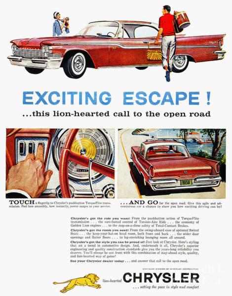 Photograph - Chrysler Ad, 1959 by Granger