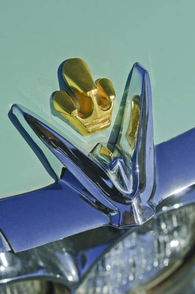 Photograph - Chrysler Imperial Emblem by Jill Reger