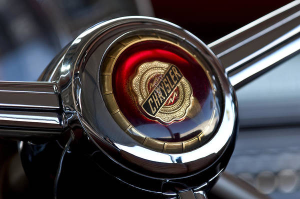 Photograph - Chrysler Town And Country Steering Wheel Emblem by Jill Reger