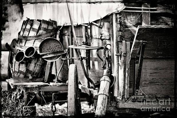 Wagon Wheel Photograph - Chuck Wagon by Lana Trussell