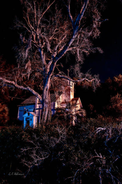 Photograph - Church At Night by Christopher Holmes