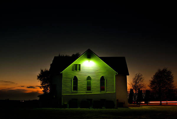 Dim Photograph - Church At Sunset by Cale Best