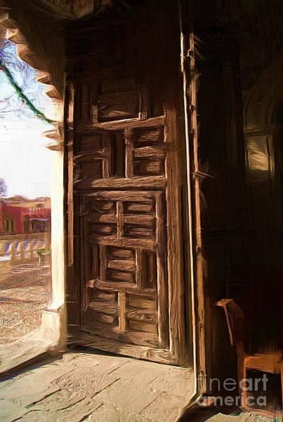 Church Door At Atotonilco Art Print