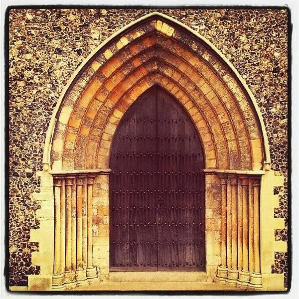 Norfolk Photograph - Church Door #church #door #yarmouth by Invisible Man