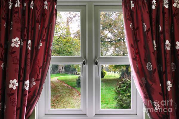 Window Dressing Wall Art - Photograph - Church Garden View  by Simon Bratt Photography LRPS