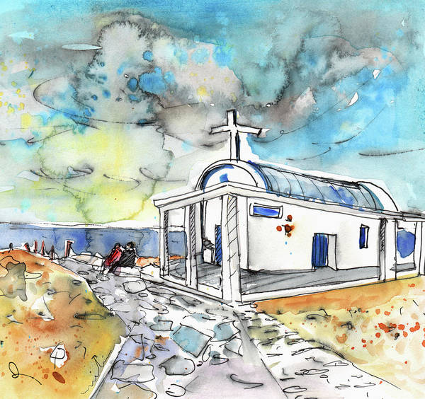 Painting - Church In Cape Gkreko In Cyprus by Miki De Goodaboom