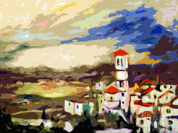 Painting - Church Of Santa Maria Assisi Italy by Ginette Callaway
