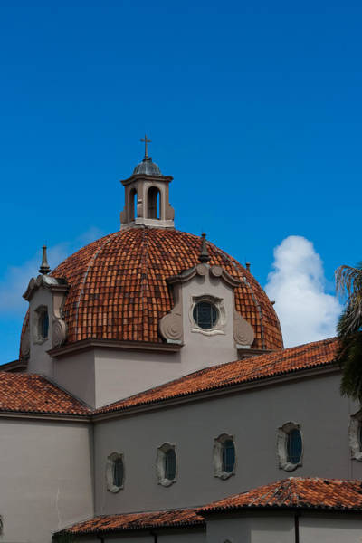 Photograph - Church Of The Little Flower Dome And Cross by Ed Gleichman