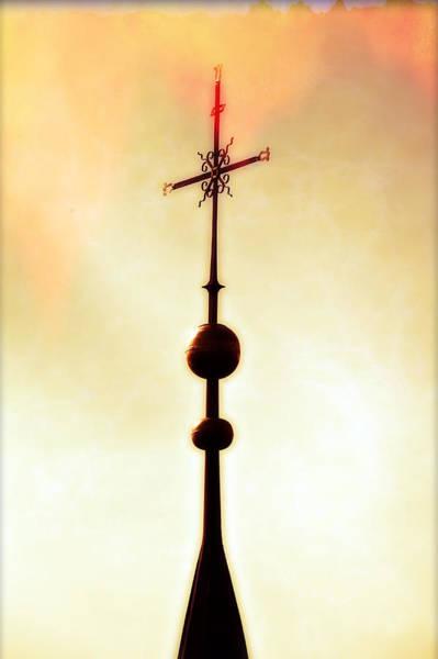 Burnt Orange Photograph - Church Spire by Joana Kruse
