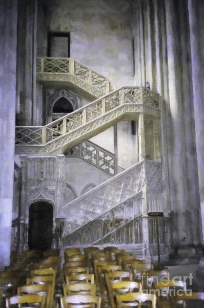 Digital Art - Church Stairwell by Donna L Munro