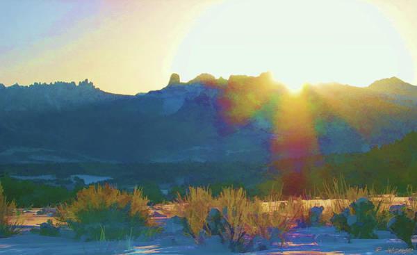 Digital Art - Cimarron Sunrise by Rick Wicker