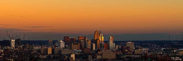 Photograph - Cincinnati At Dusk by Keith Allen