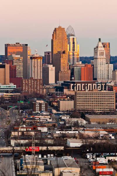Photograph - Cincinnati At Sunset by Keith Allen